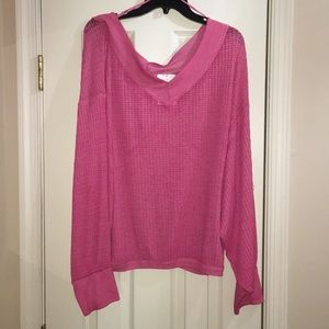 We The Free Pink thermal tunic top - Size L